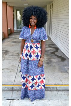 Love the fit and that beautiful, thick and natural hair! Rock it sista!