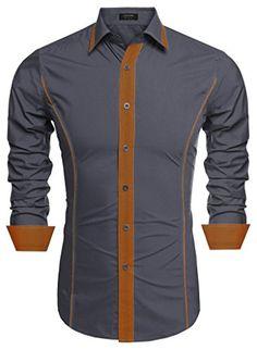 Coofandy Men's Casual Shirt Funny Long Sleeve Designer Tops Vintage Printed Button Down Shirts Cool Shirts For Men, Casual Shirts For Men, Men Casual, Nigerian Men Fashion, African Men Fashion, Stylish Mens Outfits, Stylish Shirts, Gents Shirts, Mens Kurta Designs