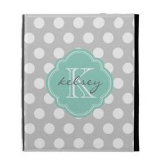 Gray & Aqua Cute Polka Dots Custom Monogram iPad Cases This site is will advise you where to buyThis Deals          	Gray & Aqua Cute Polka Dots Custom Monogram iPad Cases Online Secure Check out Quick and Easy...