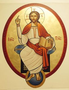 The Lord in Glory Neo coptic icon by Guirguis T Boktor.