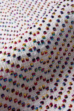 BONNIE KIRKWOOD - spots of contrasting effect yarn on twill ground