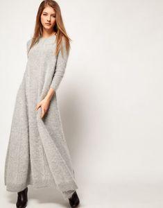 lovely angora sweater dress s fuzzy sweaters Angora Sweater, Mode Boho, Floor Length Dresses, Knit Dress, Crochet Dresses, Sweater Dresses, Knit Fashion, Mode Outfits, Dress Patterns