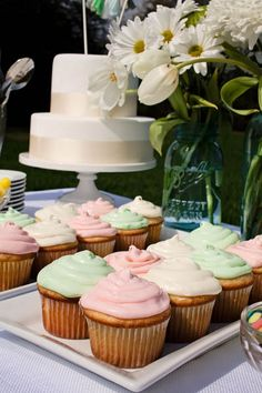 Pastel-iced cupcakes fit perfectly with the season. Photo Credit: Revival Photography