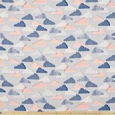 Clouds Cotton Linen Grey 112 cm