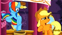 Rainbow Dash rescues her tail