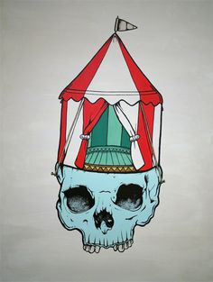 from graphic artist Fantome - an empty circus