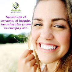 ¿Qué tan importante es la sonrisa? Sonreír genera placer, ayudan a tu sistema inmunológico, y aumentan el optimismo. No olvides adornar tu tarde con una sonrisa que ejercita el alma. Sonríe con el corazón, el hígado, tus músculos y todo tu cuerpo y ser. #VitalidadEmocional