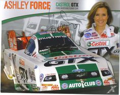 Ashley Force with her Funny Car