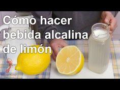 Cómo hacer bebida alcalina de limón - YouTube