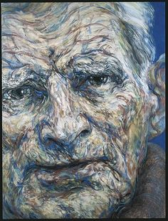 Portrait of Samuel Beckett-Maggie Hambling Samuel Beckett, Abstract Portrait, Portrait Art, Portrait Paintings, Beauty Portrait, Francis Bacon, Paul Klee, Andy Warhol, Maggi Hambling