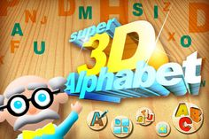 A Puzzle Game for Kids to play with Letters of the Alphabet in 26 Puzzles and 4 other Games.