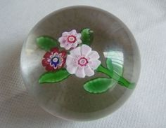 ANTIQUE FRENCH CLICHY NOSEGAY GLASS PAPERWEIGHT
