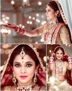 Sana Indian Bridal Lehenga, Indian Bridal Wear, Bridal Beauty, Bridal Makeup, Star Actress, Pakistani Wedding Outfits, Indiana, Punjabi Bride, Jennifer Winget