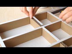 DIY Cardboard Shoe Cabinet: (cardboard furniture) HD (corrugated cardboard furniture) - YouTube