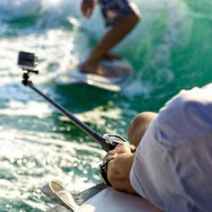 By attaching your GoPro Remote to our Remote Pole, your GoPro will be able to achieve a wide range of angles for killer action shots while giving you great control! #spgadgets #remotepole #addmorefunction #gopro #goproremote #goprohero #actionshots #wakeboarding #surf #waves #summersports #sports #ipad #device #tablets