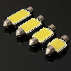 6W 6000K COB LED C5W Festoon Bulb No Error Number License Plate Light White