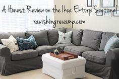 A Honest Review on the Ikea Ektorp Sectional | Ravishing Revamp