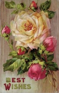 Roses card of Best Wishes