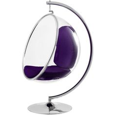 Bubble Chair in Purple ($1,550) ❤ liked on Polyvore