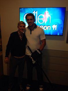 #LAKings' Anze Kopitar at The Ellen Show