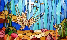 Элементы интерьера ручной работы. Ярмарка Мастеров - ручная работа Витраж Тиффани. Handmade.