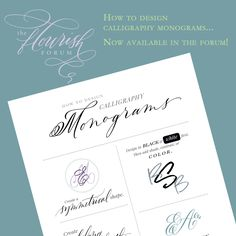 I'm really excited to present this tutorial to the forum. I have loved monograms almost as long as I have loved calligraphy. Designing a special monogram for a new bride and groom is such a thrill....