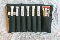 Spices in a roll up travel kit - Available with filled tubes or empty to fill with your favorites - Think of the possibilities, what could you put in a test tube? - Perfect gift for the Chef, home cook, barbecue master, hunter, fisherman, backpacker, etc. - Available plain or with a name embroidered on it to make it a more personal gift.