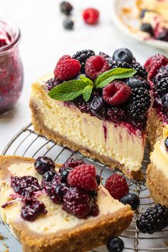 Creamy Italian Ricotta Cheesecake Recipe Italian Ricotta Cheesecake, Cheesecake Recipes, Dessert Recipes, Easter Recipes, Berry Sauce, Graham Cracker Crumbs, Perfect Food, Food Processor Recipes, Sweet Tooth