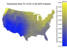 These maps reveal how long it will take for rooftop solar to become cheaper than the grid
