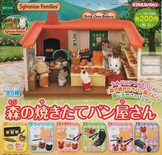 Sylvanian Families Bakery in the forest set of 6