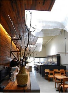 How rad is that ceiling installation at Bar Agricole in San Francisco