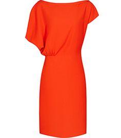 Womens Mandarin Draped Dress - Reiss Yen