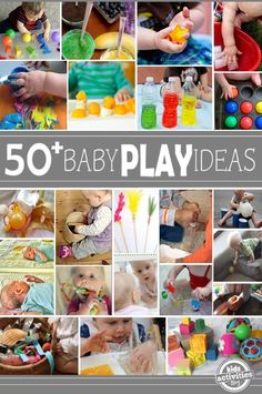 baby play ideas, uh yeah we will be doing this especially on weekends. sensory play is awesome Toddler Play, Baby Play, Baby Toys, Fun Baby, Montessori Toddler, Children Play, Craft Activities For Kids, Infant Activities, Infant Games