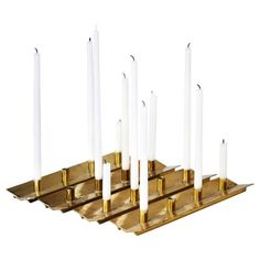 Shop Scandinavian Modern furniture at the world's largest source of Scandinavian Modern and other authentic period furniture. Scandinavian Modern, Candlesticks, Cool Furniture, Vintage Shops, Modern Table, Candle Holders, Table Lamps, Brass, Lighting