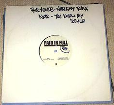 Nas You Know My Style + 3 tracks Paid In Full 55 12  Vinyl #ebay  #rozasebay
