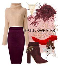 """""""Fall sweater 🍁"""" by yana0819 ❤ liked on Polyvore featuring Rothko, Simone I. Smith, Valentino and Aquazzura"""