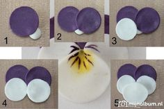 Marzipan pansies - could be done in wet card stock  http://www.mijnalbum.nl/Foto-KHXOXRYL.jpg