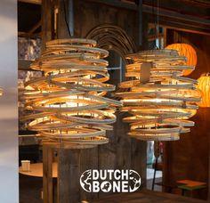 Dutchbone KUBU vintage rotan hanglamp