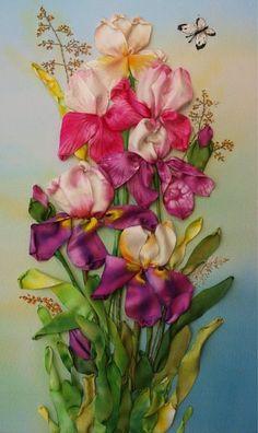 *RIBBON ART ~ Ribbon Embroidery