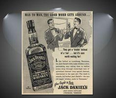 Jack Daniels Vintage Drinks Poster - A1, A2, A3, A4 sizes   eBay