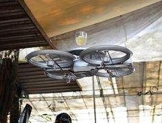 COFFEE DRONE FOR THE OFFICE????!!!    Singapore: Flying helicopter drone waiters deployed to deliver food and drink to customers | A restaurant chain in Singapore has demonstrated flying helicopter drones being used to deliver food and drinks from the kitchen, right to customers' tables. #Drones4Life #DroneWars
