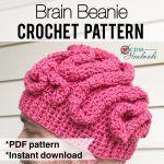 Crochet Brain Beanie - a FREE Pattern – CDM Handmade
