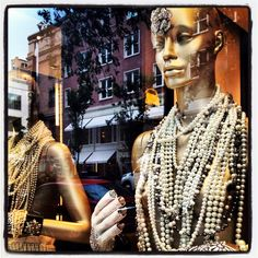 Chanel Pearls Madison Ave NYC 2012 -Photographer Jane Drake Hale