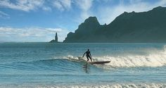 a surfer at Wainui B