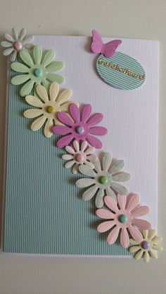 Card fiorita bh Homemade Birthday Cards, Happy Birthday Cards, Homemade Cards, Paper Cards, Diy Cards, Diy Creative Cards, Cricut Cards, Embossed Cards, Card Patterns