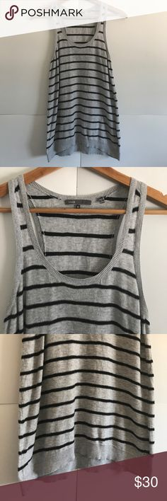 VINCE Striped Woven Tank Size Small In great condition!! 100% cotton Vince Tops Tank Tops