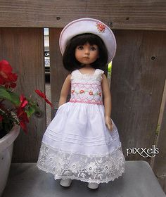 "Lucious Lace Smocked Dianna Effner Little Darlings 13"" Studio Dolls by Pixxells 