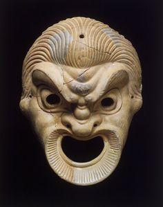 "Terracotta masks of the ""Leading Slave"" c. 250 B.C."