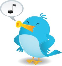 Cartoon Blue Bird Sing vector illustration by qiun - Stockfresh Twitter Help, Twitter Tips, Lottery Tips, Graphic Design Projects, Marketing Digital, Blue Bird, Tweety, Competition, Social Networks