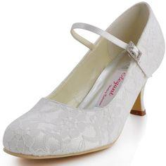 Elegantpark EP1085 Ivory Women's Round Toe Buckle Lace Pumps Bridal Wedding Shoes US4 Elegantpark http://www.amazon.com/dp/B00JURAJUA/ref=cm_sw_r_pi_dp_Upboub07RGNE3